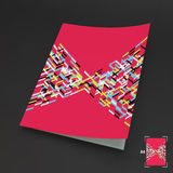 A4 bedrijfsspatie abstracte vectorillustratie Royalty-vrije Stock Fotografie