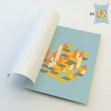 A4 bedrijfsspatie abstracte vectorillustratie Stock Afbeelding