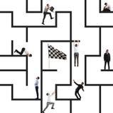 Bedrijfsspel van labyrint stock afbeelding