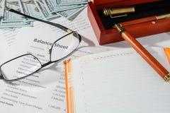 Bedrijfsstatistieken, balans Royalty-vrije Stock Afbeelding