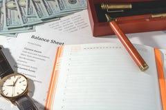 Bedrijfsstatistieken, balans Royalty-vrije Stock Foto's