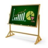 Bedrijfsstatistieken en het concept die van de financieel verslagpresentatie rekenschap geven Stock Afbeeldingen