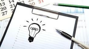 Bedrijfsstilleven met ideeën Stock Afbeelding