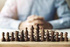 Bedrijfsstrategie en Uitdagingsconcept royalty-vrije stock afbeelding