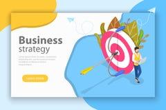 Bedrijfsstrategie isometrische vlakke vector conceptuele illustratie royalty-vrije illustratie