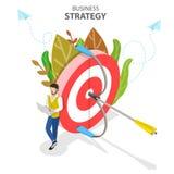 Bedrijfsstrategie isometrische vlakke vector conceptuele illustratie vector illustratie