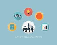Bedrijfsstrategieconcept op vlak stijlontwerp Stock Afbeeldingen