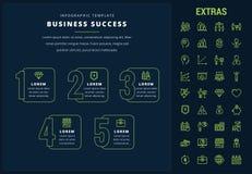 Bedrijfssucces infographic malplaatje en elementen Royalty-vrije Stock Foto