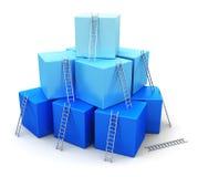 Bedrijfssucces, leiding en de concurrentieconcept Stock Foto