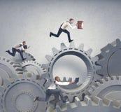 Bedrijfssysteem en de concurrentieconcept Stock Afbeelding