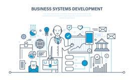 Bedrijfssystemenontwikkeling, analyse en onderzoek, marketing, planning, grafiek, strategie vector illustratie
