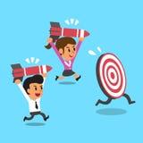 Bedrijfsteam en doel Royalty-vrije Stock Afbeelding
