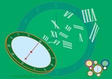 Bedrijfstijd - abstracte conceptuele klokachtergrond - vector illustratie
