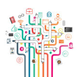 Bedrijfstoepassingen en pictogrammenvector Royalty-vrije Stock Afbeeldingen