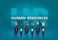 Bedrijfsu concept De hurende werknemer van de personeelsmanager stock illustratie