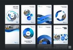 Bedrijfsvector De lay-out van het brochuremalplaatje, behandelt zacht ontwerp ann Stock Foto