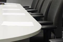 Bedrijfsvergaderzaal (Stoelen, document, voorbereiding) Stock Afbeelding