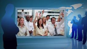 Bedrijfsvideo's van een vergadering met een hoffelijkheid van het Aardebeeld van NASA org stock footage