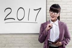Bedrijfsvisie in 2017 Stock Foto's