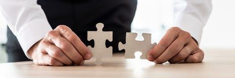 Bedrijfsvisie en oplossingsconcept stock foto