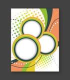 Bedrijfsvliegermalplaatje of collectieve banner, abstracte brochure of dekkingsontwerp met streep voor uw tekst Stock Foto's