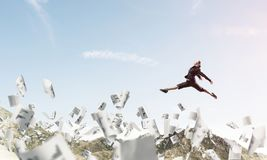 Bedrijfsvrouw in beweging Royalty-vrije Stock Afbeeldingen