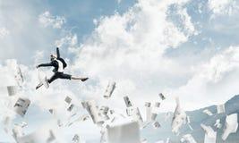 Bedrijfsvrouw in beweging Royalty-vrije Stock Afbeelding