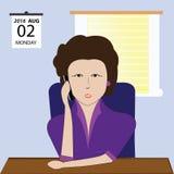 Bedrijfsvrouw die op cellphone spreken Royalty-vrije Stock Fotografie