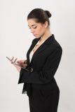 Bedrijfsvrouw met de tablet stock foto's