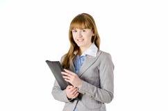 Bedrijfsvrouw met omslag Royalty-vrije Stock Foto