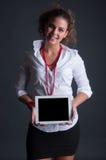 Bedrijfsvrouw met Tablet royalty-vrije stock afbeelding