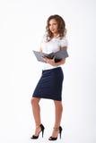 Bedrijfsvrouw in studio Stock Fotografie