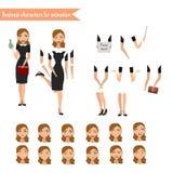 Bedrijfsvrouw voor animatie Stock Foto