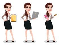 Bedrijfsvrouw in vrijetijdskleding royalty-vrije illustratie
