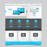 bedrijfswebsitemalplaatje - schoon en eenvoudig homepageontwerp - - vectorillustratie Royalty-vrije Stock Foto's