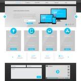 bedrijfswebsitemalplaatje - schoon en eenvoudig homepageontwerp - - vectorillustratie Stock Foto's