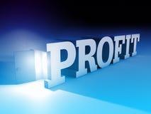 Bedrijfswinstmetafoor met open deur met woord Royalty-vrije Stock Afbeeldingen