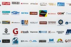 Bedrijven die aan de tentoonstelling en de conferentie deelnemen Stock Afbeelding