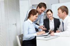 Bedrijvig team Royalty-vrije Stock Foto