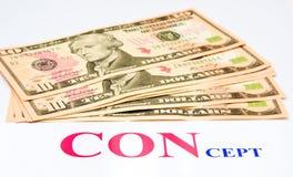Bedrogen: verloren geld. Royalty-vrije Stock Fotografie
