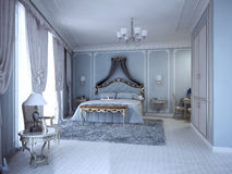 Bedrom di lusso in casa privata Fotografia Stock