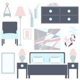 Bedroom– vector Illustration. Stock Image