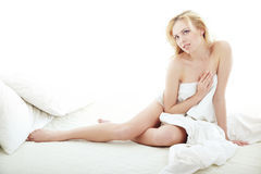 In the bedroom Royalty Free Stock Images