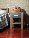 Bedroom. Wooden furniture, package, interior design Stock Image