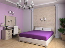 Bedroom. In classical style 3d image Stock Photo