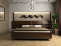 Bedroom. In modern style 3d image Stock Images