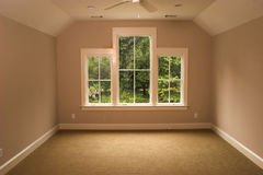 Bedroom. Upstairs bedroom or study, unfurnished Royalty Free Stock Photos