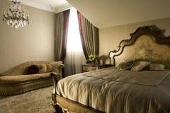 Bedroom. Luxury bedroom in classic style Royalty Free Stock Photo