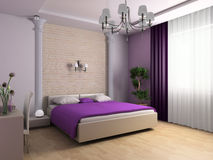 Bedroom. In classical style 3d image Stock Photography