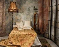 Bedroom. Elegant bedroom interior in the vintage style Stock Images